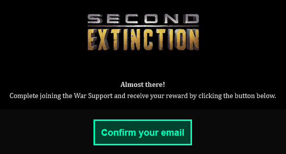 Second Extinction-signup-email